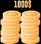 $1000 Deposit Bonus